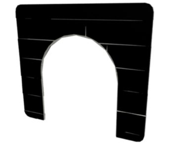 CASTLE ARCHED DOORWAY PANEL