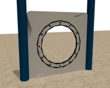 Steel or HDPE Ships Window Play Panel