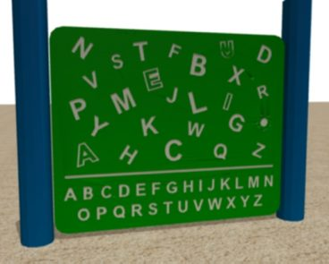 HDPE ALPHABET FIND PLAY PANEL