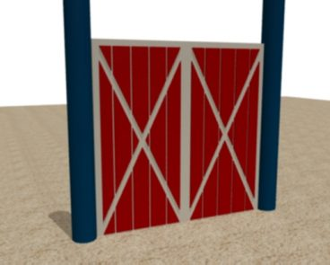HDPE BARN DOOR THEMED PLAY PANEL