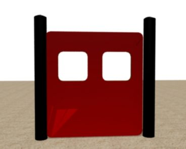 FIRE TRUCK HDPE DOUBLE WINDOW PANEL