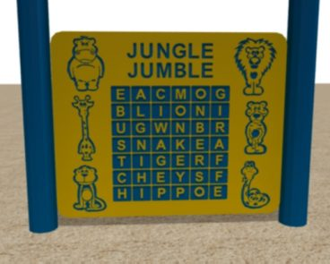 HDPE JUNGLE JUMBLE WORD FIND PANEL