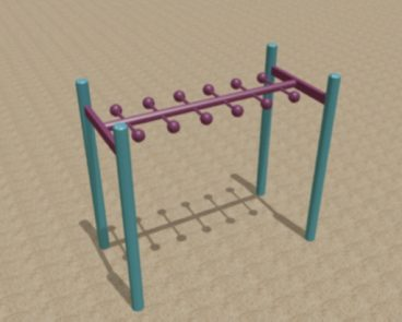 HORIZONTAL LOLLY RUNG MONKEY BARS