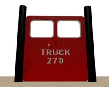 FIRE TRUCK HDPE TRUCK NUMBER WINDOW PANEL