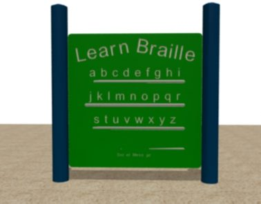 HDPE Alphabet Braille Panel