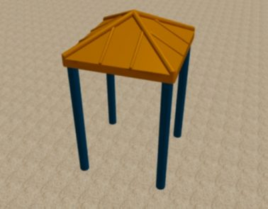 Square Poly Roof
