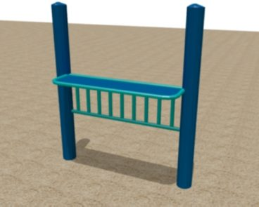 Steel Accessible Play Counter